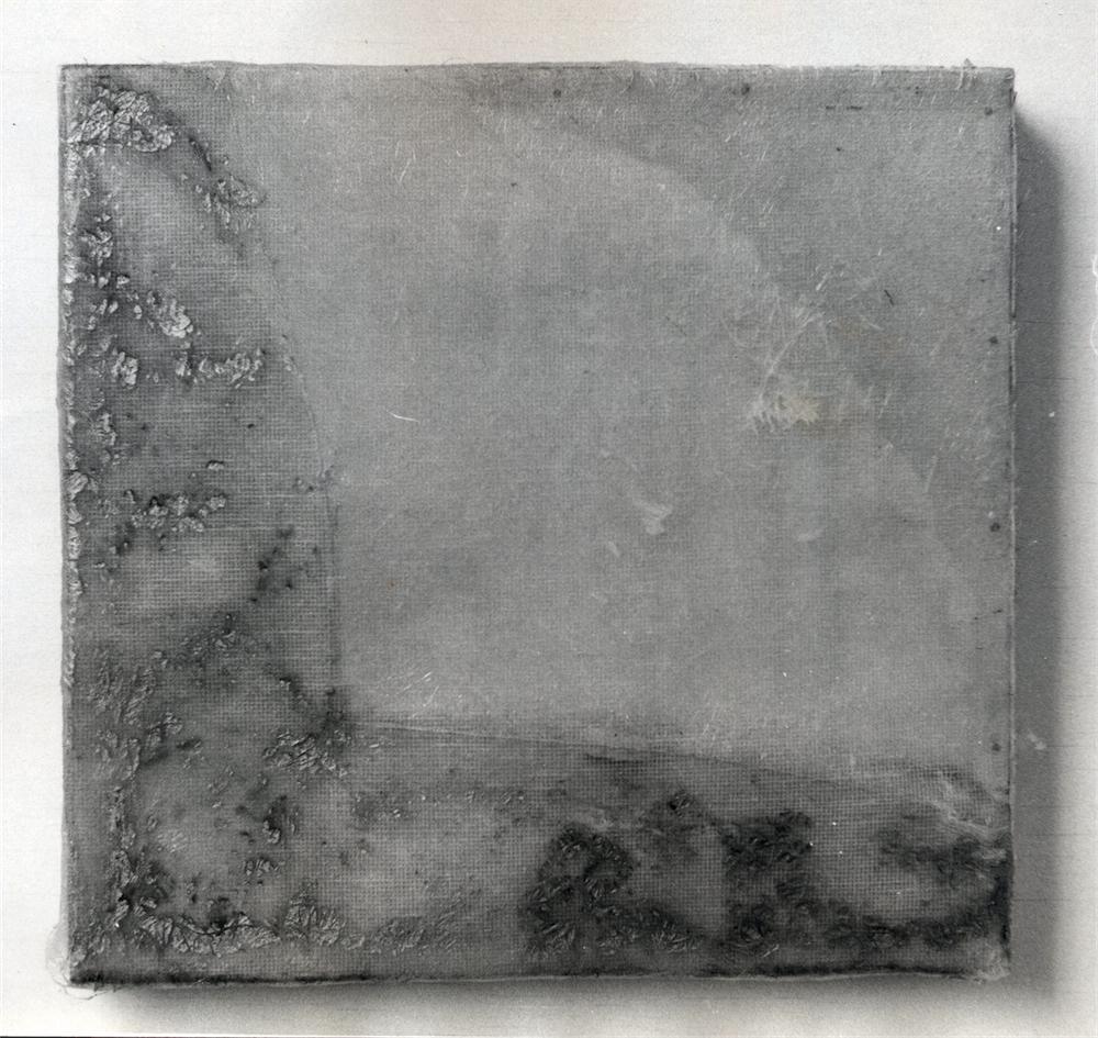 "Light - fibre glass resin on wood 13""x12"""