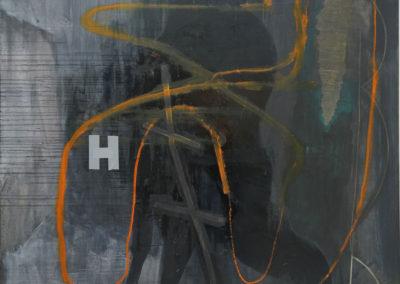 H - oil on linen 6'x6'