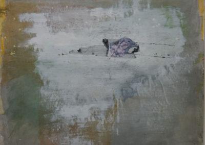 """Greenwich Reach - water colour 60""""x48"""""""