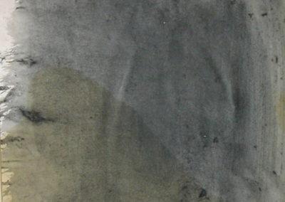 "Tideway - watercolour on paper 8""x8""."