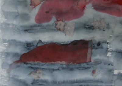 "Tideway - watercolour on paper 8""x8"""
