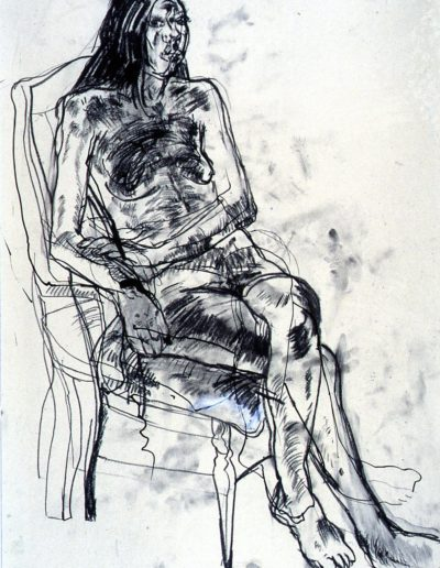 Figure drawing on paper