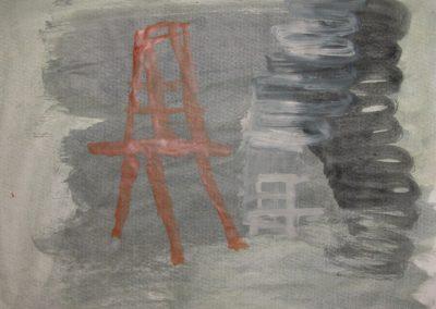 """Greenwich Reach - Watercolour 30"""" x 22"""