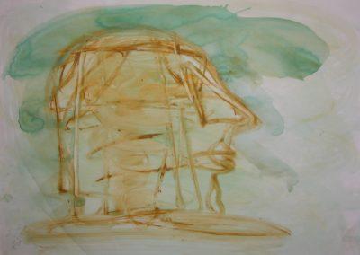"""Greenwich Reach - Water Colour 30"""" x 22"""