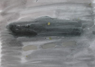 Tideway - watercolour on paper