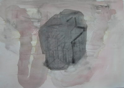 "Thames Reach - watercolour on paper 22""x30"""