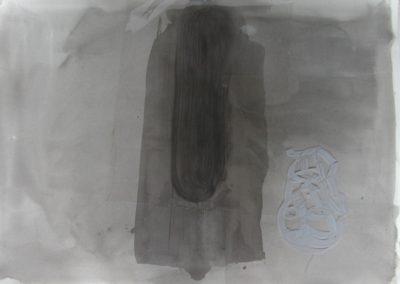 "Thames Reach - watercolour & acetate on paper 22""x30"""