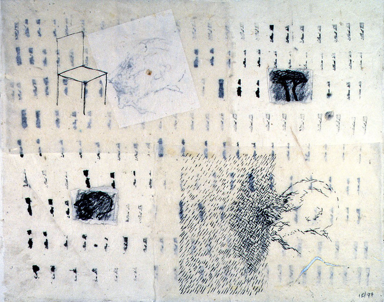 "Memory -  Drawing washi approx 18""x15"""